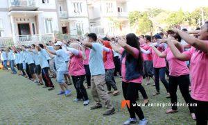employee gathering pt ares kusuma raya villa puncak-pacet