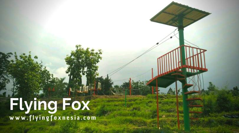 Jasa Instalasi Flying Fox Sepeda Gantung Wahana Outbound Ayunan Raksasa